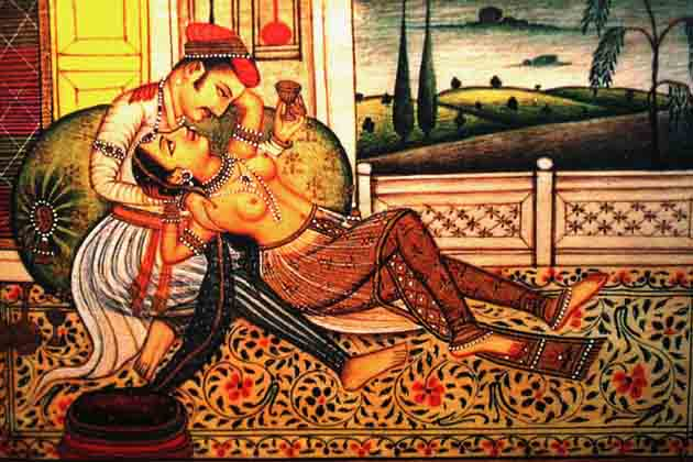 This picture postcard was distributed by the private Indian Health Organisation (IHO) at a four-day International AIDS conference which ended in Manila on October 29.  It illustrates the Kama Sutra, the world's oldest treatise on sex, written in India 1,500 years ago.  The IHO says Kama Sutra's 64 different postures for sexual intercourse offers couples enough variety to keep together rather than seek excitement elsewhere.