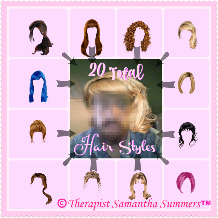 Feminization Hair-Salon at the Samantha Summers Institute
