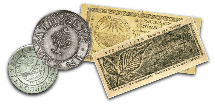 Early American Currencies - 1600s-1776