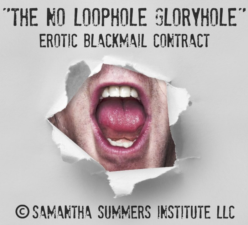 Forced Bi Gloryhole Blackmail Contract
